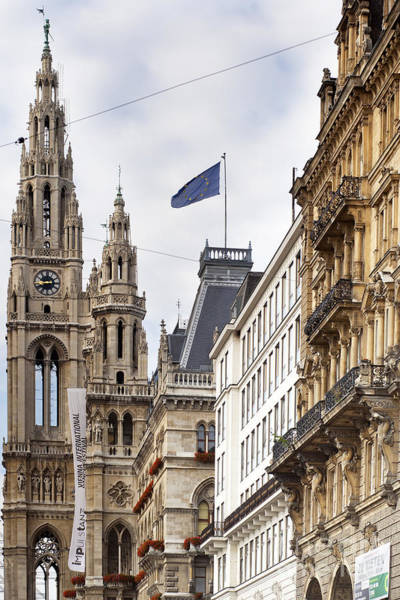 Vienna City Hall Art Print by Andre Goncalves