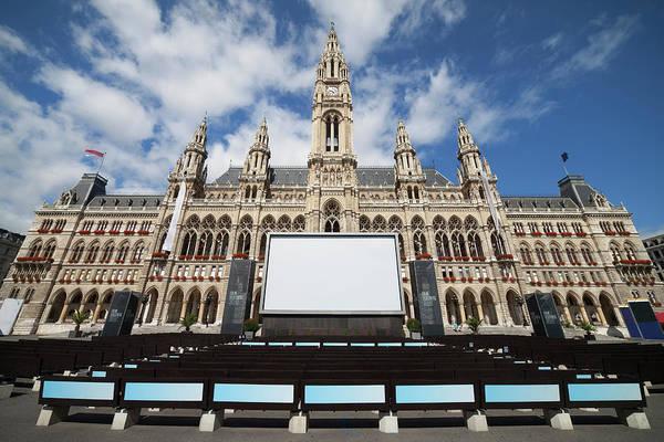 Rathaus Photograph - Vienna City Hall by Artur Bogacki
