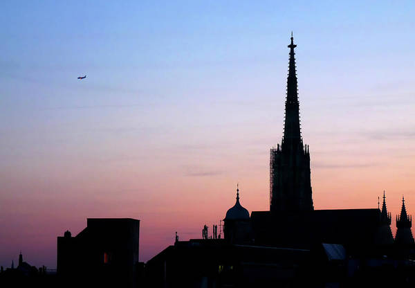 Photograph - Vienna City Silhouette by Jonny Jelinek