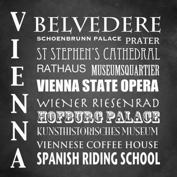 Wall Art - Digital Art - Vienna Famous Landmarks by Patricia Lintner