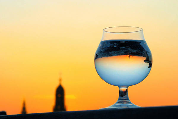 Photograph - Vienna - Sunset In A Glass by Jonny Jelinek
