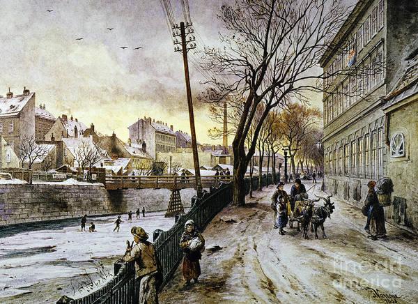 Photograph - Vienna: Winter Scene, 1888 by Granger