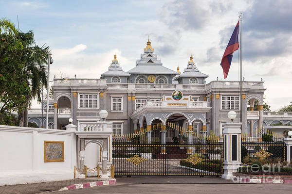 Photograph - Vientiane Presidential Palace by Didier Marti