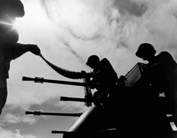 Photograph - Vietnam Ammo Scene by Underwood Archives