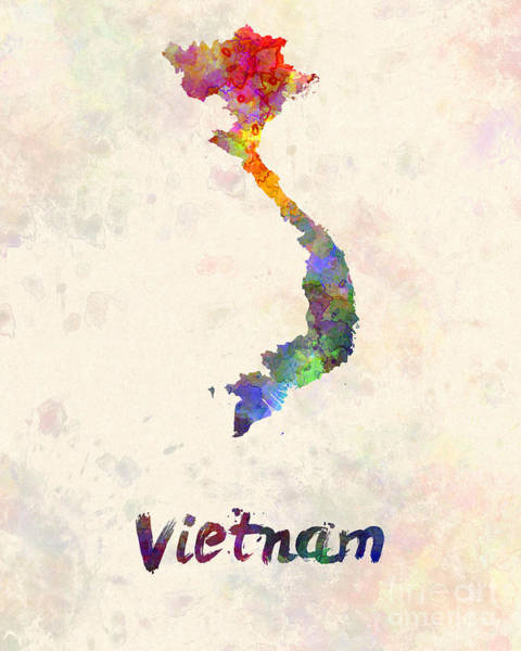 Vietnamese Painting - Vietnam In Watercolor by Pablo Romero