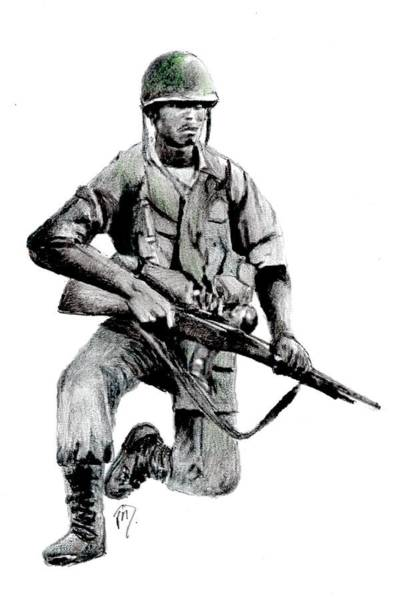 Painting - Vietnam Infantry Man by Joe Dagher