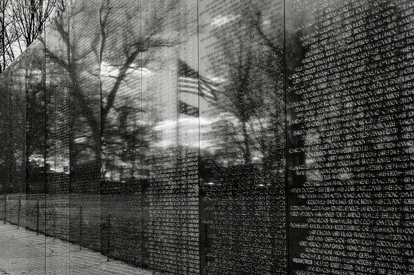 Photograph - Vietnam Memorial In Washington Dc by Brandon Bourdages
