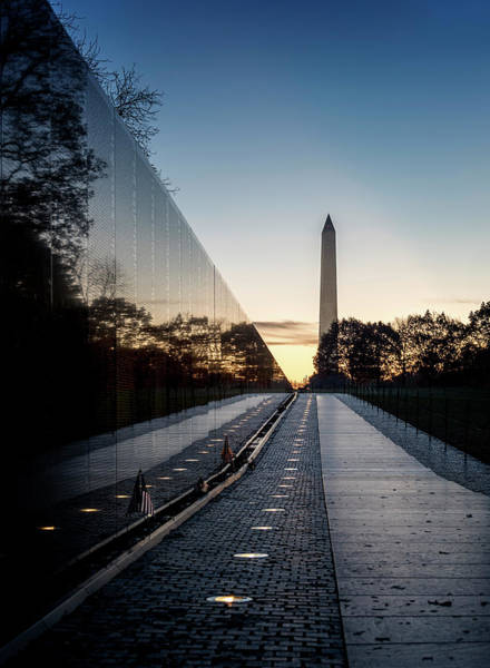 Photograph - Vietnam Memorial Sunrise by Ryan Wyckoff