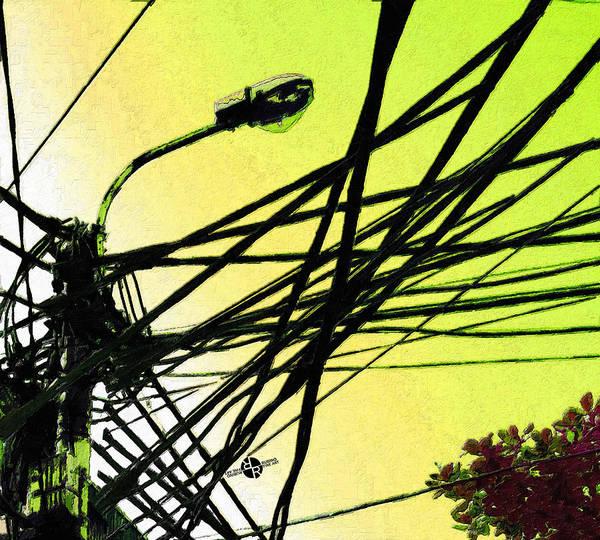 Utility Painting - Vietnam Telephone Wires Painting 2 by Tony Rubino