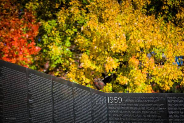Photograph - Vietnam Wall Autumn by Ross Henton