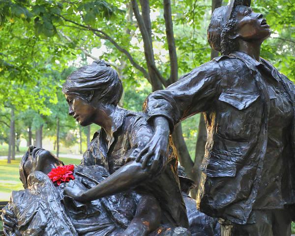 Wall Art - Photograph - Vietnam Women's Memorial  by Mitch Cat
