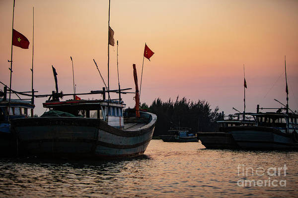 Quang Nam Province Photograph - Vietnamese Fishing Boats At Sunset by Lisa Top