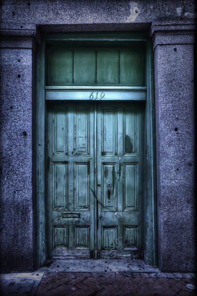 Wall Art - Photograph - Vieux Carre' Doorway At Night by Tammy Wetzel