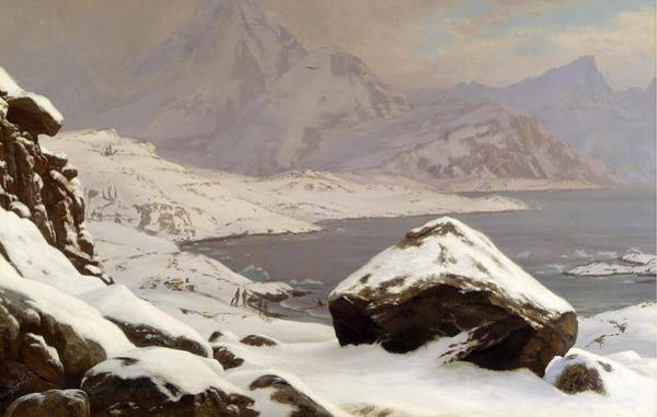 Wall Art - Painting - View Across A Lake In Greenland by Carl Rasmussen