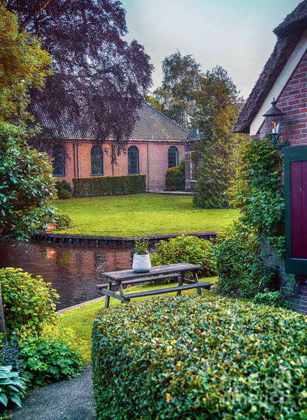 Photograph - View At Old Church  In Dutch Village by Ariadna De Raadt