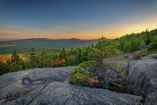 Wall Art - Photograph - View At Sunset From Tumbledown Mountain by Rick Berk
