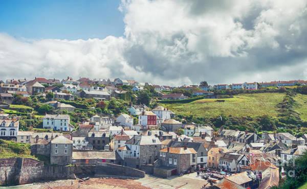 Photograph - view at village Port Isaac, Cornwall  by Ariadna De Raadt