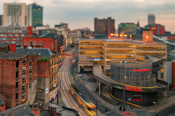Photograph - View Down Nicholas Croft Towards Manchester Arndale, Manchester, by Neil Alexander