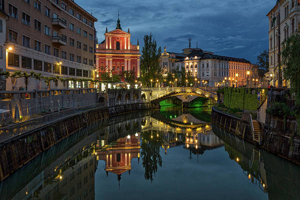 Photograph - View From A Bridge - Ljubljana - Slovenia by Stuart Litoff
