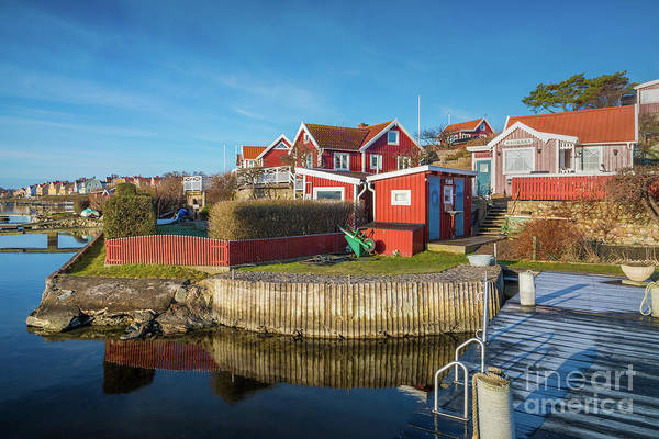Sverige Photograph - View From A Dock by Inge Johnsson