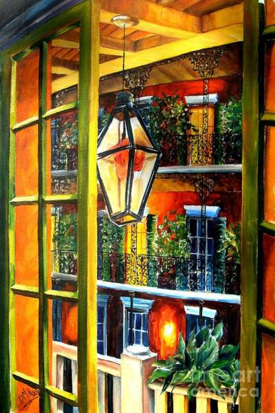 French Scenes Painting - View From A French Quarter Balcony by Diane Millsap