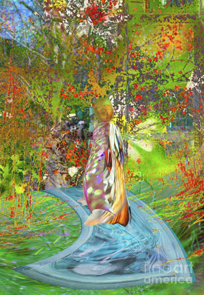 Digital Art - View From A Garden by Dorothy Pugh