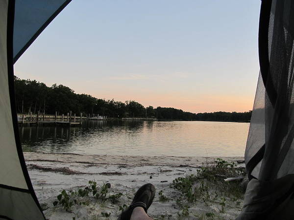 Photograph - View From A Tent by Digital Art Cafe