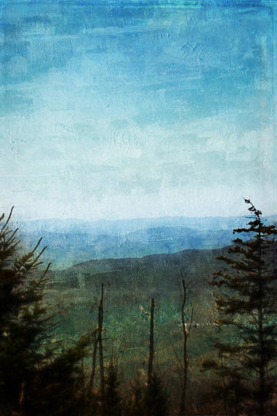 Painting - View From Clingman's Dome Tennessee Smoky Mountains by Christina VanGinkel