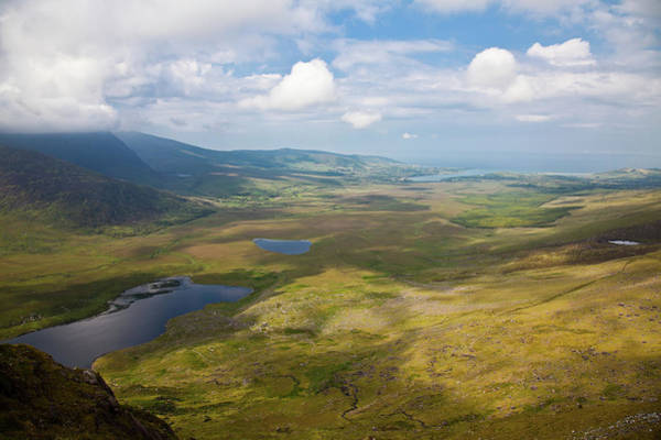 Dingle Peninsula Photograph - View From Connor Pass by Gabriela Insuratelu