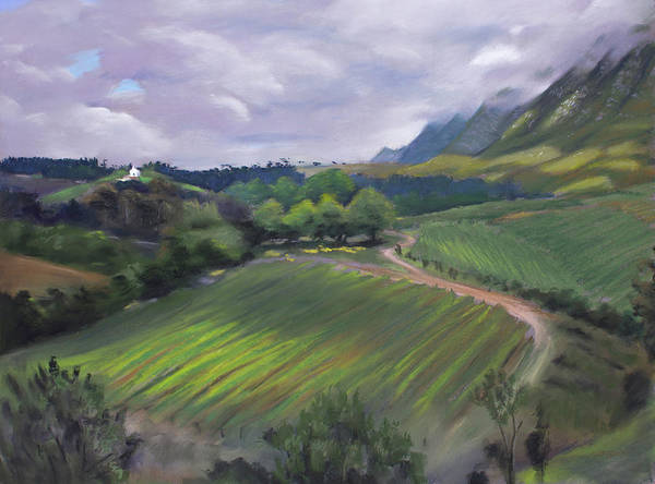 Painting - View From Creation Winery by Christopher Reid