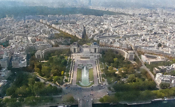 Painting - View From Eiffel Tower Par802438 by Dean Wittle