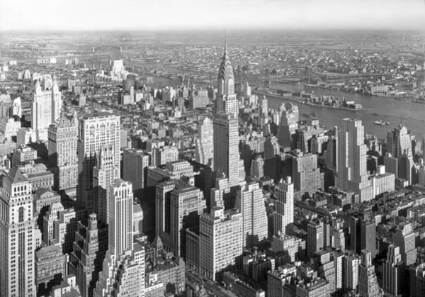 Wall Art - Photograph - View From Empire State Bldg. by Samuel H. Gottscho