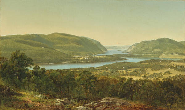 West Point Painting - View From Garrison. West Point. New York by David Johnson