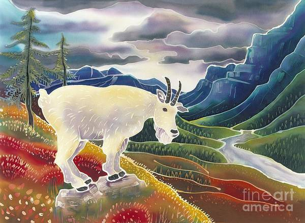 Mountain Goat Wall Art - Painting - View From High Places by Harriet Peck Taylor