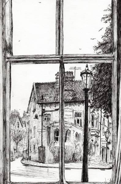 Hotel Drawing - View From Old Hall Hotel by Vincent Alexander Booth