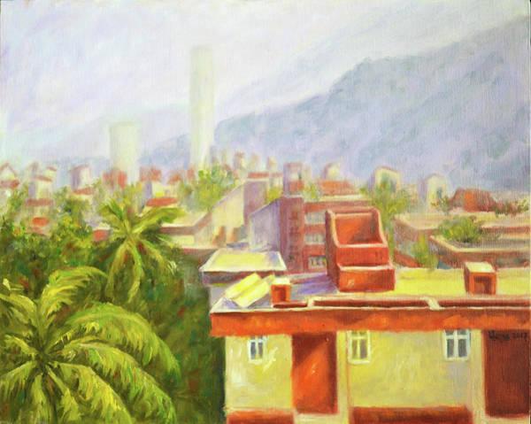 Mumbai Painting - View From Our Balcony by Uma Krishnamoorthy