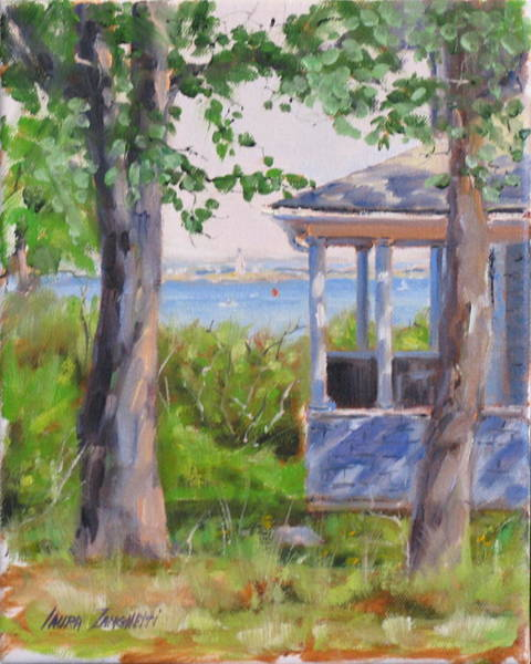 Wall Art - Painting - View From Pointe Allerton by Laura Lee Zanghetti