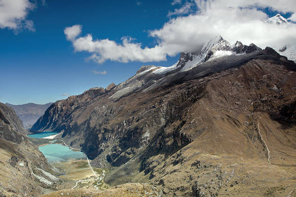 Photograph - View From Portachuelo Pass With Llanganuco Lakes by Aivar Mikko