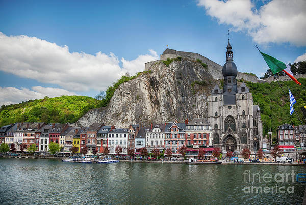 Photograph - view from river at Dinant by Ariadna De Raadt