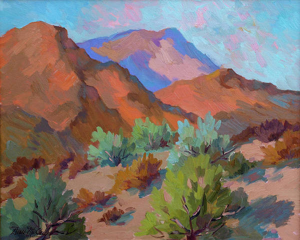 Wall Art - Painting - View From Santa Rosa - San Jacinto Visitor Center by Diane McClary