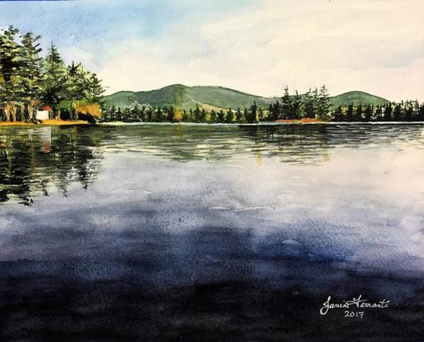 Adirondack Mountains Painting - View From The Algonquin by Janine Ferranti