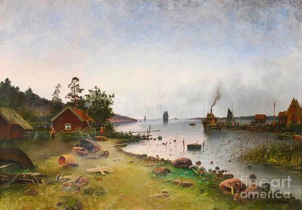 Archipelago Painting - View From The Archipelago by Celestial Images