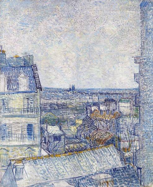 Painting - View From The Artist's Window, Rue Lapic by Artistic Panda