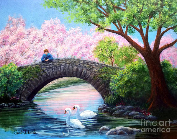 Wall Art - Painting - View From The Bridge by Sarah Irland