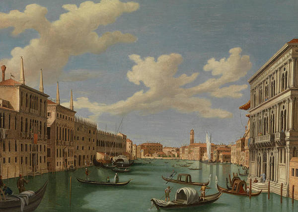 Italian Painters Wall Art - Painting - View From The Ca' Calergi by Vincenzo Chilone