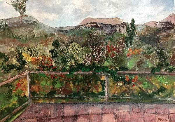 Mixed Media - View From The Deck by Norma Duch