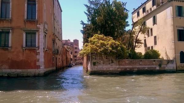 Photograph - view from the Grand Canal  Venice by Rusty Gladdish