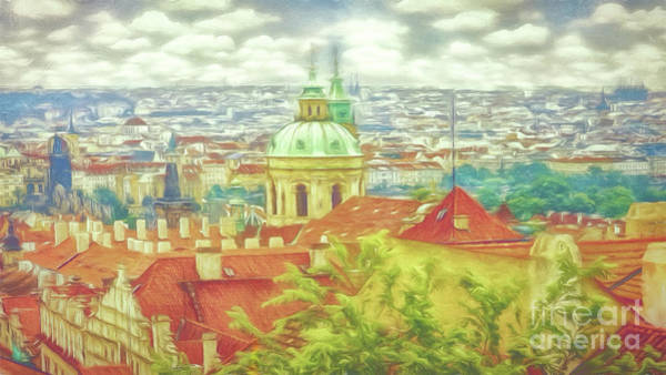 Photograph - View From The High Ground - Prague  by Leigh Kemp