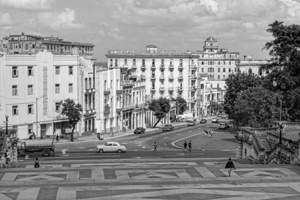 Photograph - View From The Hill Havana Black And White by Sharon Popek
