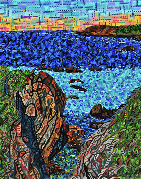 Wall Art - Painting - View From The Pacific Coast Highway by Micah Mullen